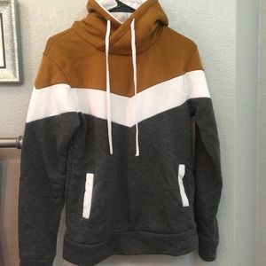 Tri Colored Chevron Hoodie